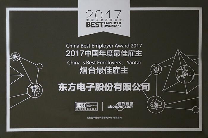 2017年中国年度最佳雇主