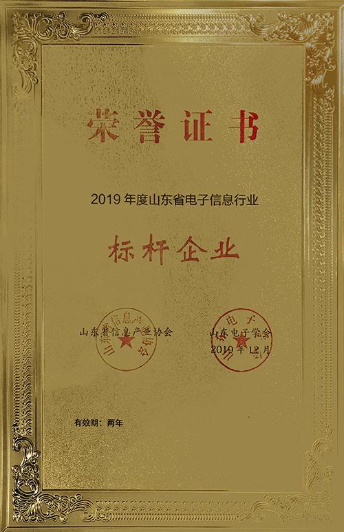2019年度山东省电子信息行业标杆企业